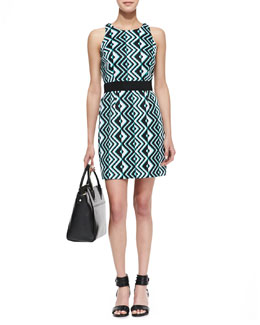 Milly Ana Geo-Print Sheath Dress