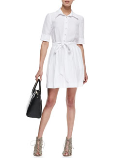 Milly Cleo Tie-Waist Shirtdress