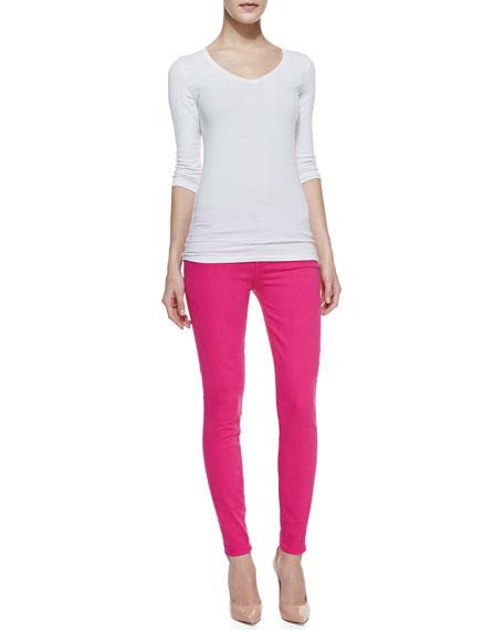 Slim Illusion Skinny Jeans, Hot Pink