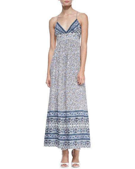 Batik Floral Jersey Maxi Dress