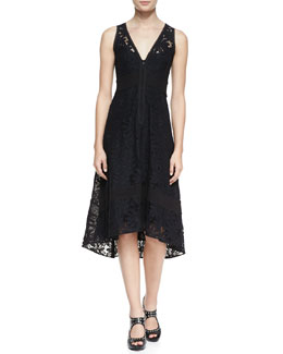 Nanette Lepore Flamenco Lace Arch-Hem Dress