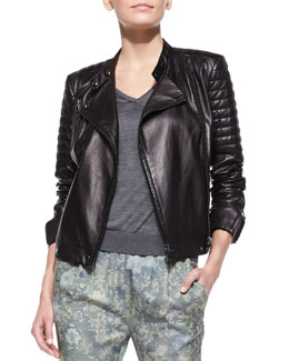 J Brand Ready to Wear Crista Leather Moto Jacket