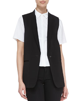 J Brand Ready to Wear Poitier Oversize Suit Vest