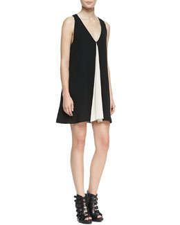 Alice + Olivia Rola Two-Tone A-Line Tank Dress