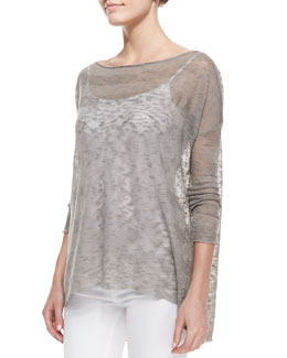 Alice + Olivia Javi Sheer Burnout Sweater