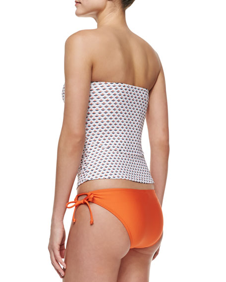 Tie-Side Swim Bottom, Orange