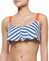 Splendid Striped Flutter Swim Top