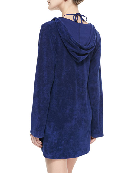 Terry Hooded Tunic Coverup