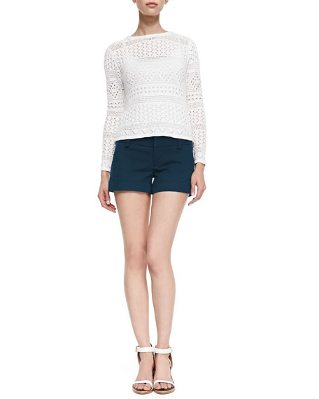 Cady Cuffed Shorts, Navy