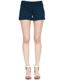 Alice + Olivia Cady Cuffed Shorts, Navy