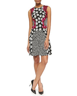 Diane von Furstenberg Paris Sleeveless Ballet Rose Combo Dress