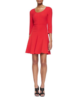 Diane von Furstenberg Paloma Scoop-Neck Flare Dress