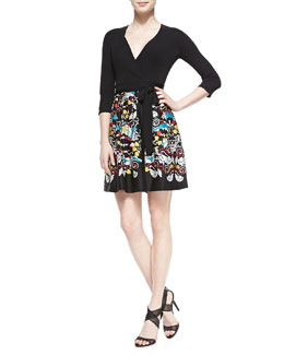 Diane von Furstenberg Jewel Printed-Silk Wrap Dress, Ballet Russe