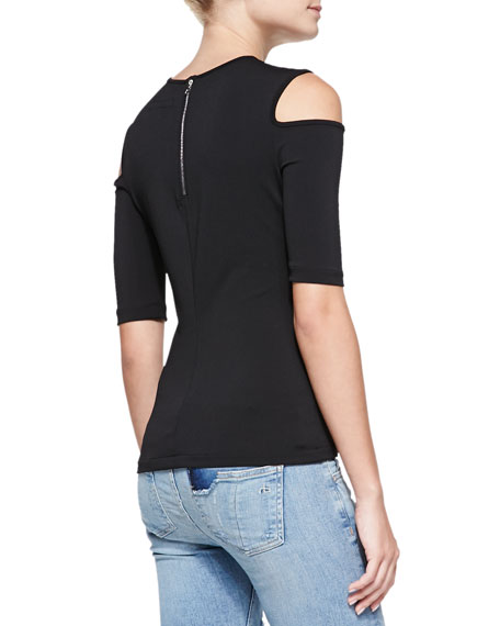 f668fe53abbf3 Rag   Bone Michelle Knit Cold-Shoulder Top