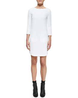 Vince Bracelet-Sleeve Ponte Dress