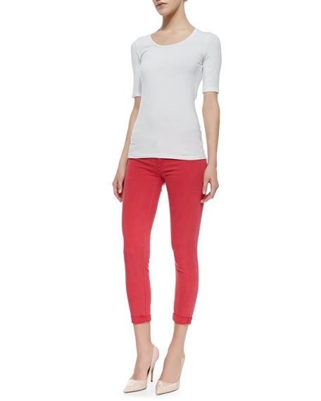 Harkin Soft Parade Cropped Cuffed Skinny Jeans
