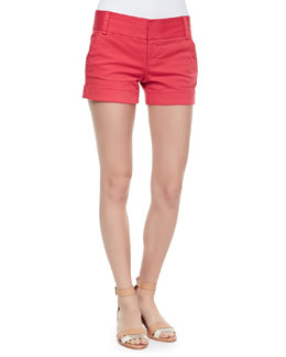 Alice + Olivia Cady Cuff Shorts, Poppy