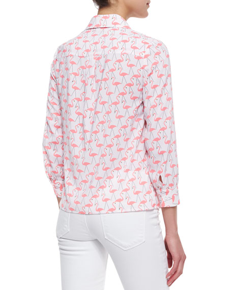 Willa Flamingo-Print Blouse
