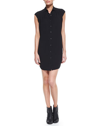Helmut Lang Relic Knit Button-Down Shirtdress