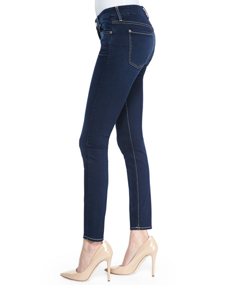 Slim Illusion Luxe Night Blue Mid-Rise Ankle Skinny Jeans
