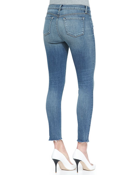 8226 Destructed Fury Cropped Mid-Rise Jeans