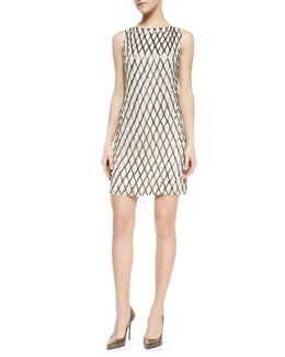 Alice + Olivia Dalyla Beaded A-Line Dress