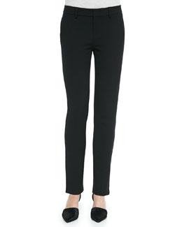 Vince Slim Straight-Leg Crepe Trousers