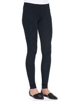 Knit Scrunch-Ankle Leggings, Coastal