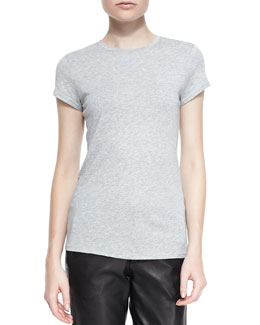 Vince Boy-Fit Jersey Tee, Heather Gray