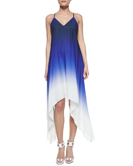 Milly Ombre High-Low Sleeveless Dress