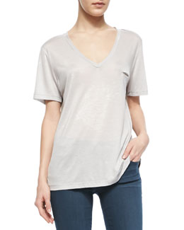 J Brand Jeans Jackson Jersey Two-Tone Top
