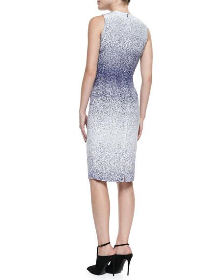 Tapered Silk Sheath Dress