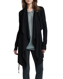 Helmut Lang Long Open Cascade Cardigan