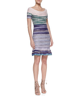 Herve Leger Off-The-Shoulder Bandage Dress