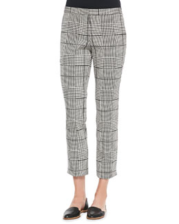Theory Rhythm Printed Cropped Pants