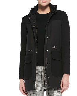 Theory Alanso Cotton Makintosh Coat