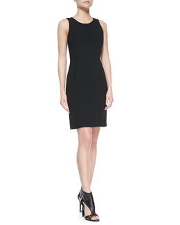 Theory Ballia Register Sleeveless Ponte Dress