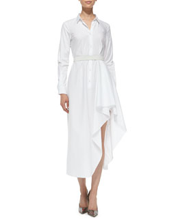 Theory Diaz Poplin Runway Long-Sleeved Dress
