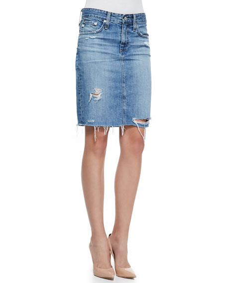 54f40397e6 AG Adriano Goldschmied Erin 16-Years Ascension Denim Skirt