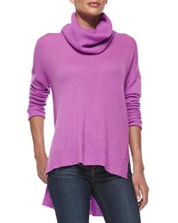 Diane von Furstenberg Ahiga Loose-Turtleneck Cashmere Sweater