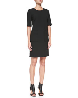 Diane von Furstenberg Half-Sleeve Shift Dress with Pockets