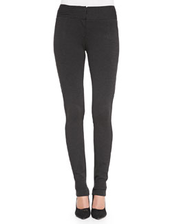 Diane von Furstenberg Structured Knit Stretch Leggings