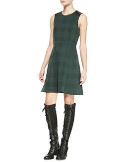 Rag & Bone Gayle Check A-Line Dress