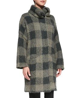 Rag & Bone Cammie Check Sweater Coat