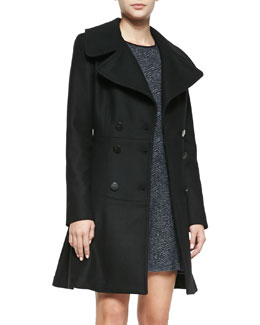 A.L.C. Claire Double-Breasted Fit-and-Flare Coat