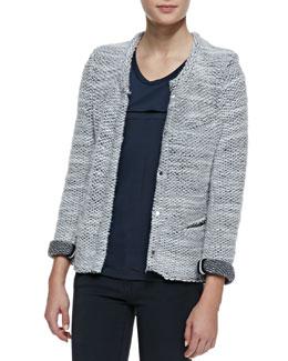 IRO Carene Braid-Trim Knit Jacket