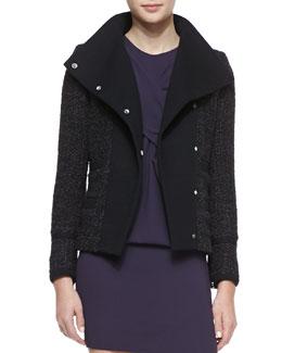 IRO Cydney Widespread Collar Jacket, Black