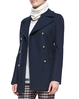 Joseph Cadet Double-Breasted Felt Coat