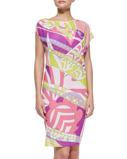 Emilio Pucci Printed Slub-Jersey Coverup Dress