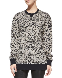 rag & bone/JEAN Amoeba-Print Knit Sweatshirt
